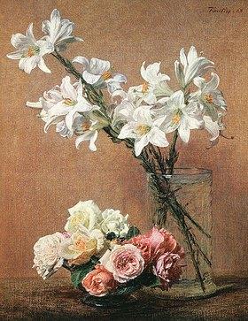 Henri de Fantin-Latour: Weiße Lilien in Glasvase