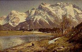 Peder Moensted: Die Karwendelspitze im Vorfrühling