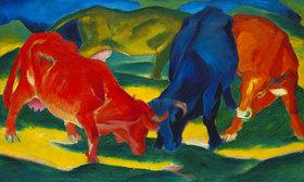 Franz Marc: Kämpfende Kühe