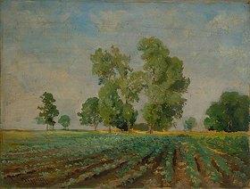 Ludwig Hofelich: Landschaft bei Ismaning
