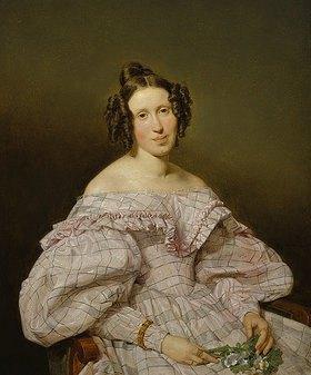 Ferdinand Georg Waldmüller: Bildnis der Frau Luise Löffler (?), geborene Feldmüller