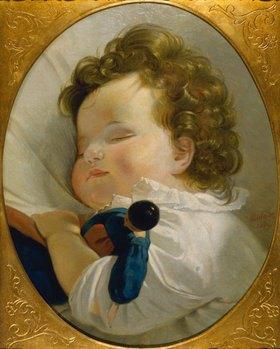 Joseph Weidner: Prinzessin Marie Liechtenstein als Kind (Kopie nach einem Gemälde von Amerling)