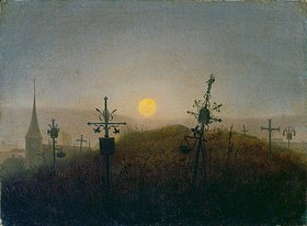 Carl Gustav Carus: Sogenannter Friedhof bei Inning