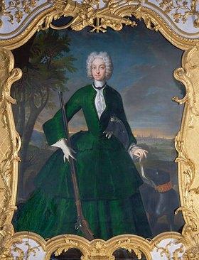 Franz Joseph Winter: Kurfürstin Amalia Maria Josepha von Bayern mit einem Berger de Beauce