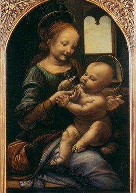 Leonardo da Vinci: Madonna Benois (Madonna mit der Blume)