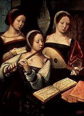Meister der weibl. Halbfiguren: Musizierende Frauen