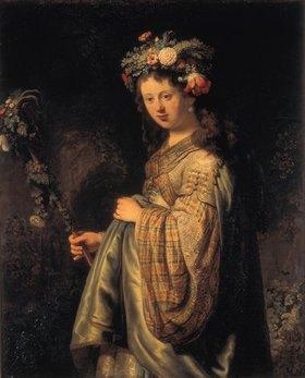Rembrandt van Rijn: Saskia als Flora