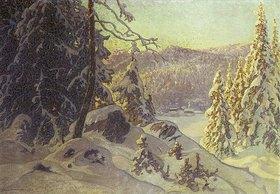 Anshelm Schultzberg: Ein kalter Wintermorgen (Frostig vintermorgon)
