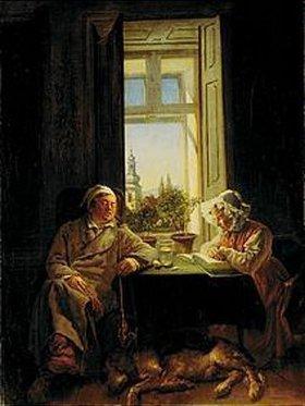 Joseph Danhauser: Siesta (Die Schlafenden)
