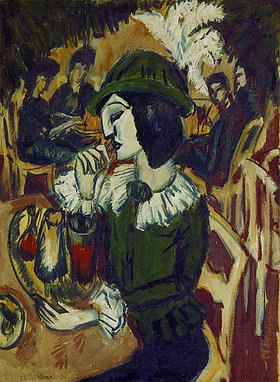 Ernst Ludwig Kirchner: Grüne Dame im Gartencafé