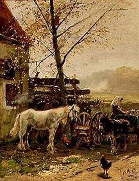 Hugo Mühlig: Am Bauernhof