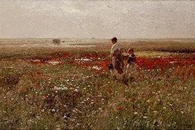 Hugo Mühlig: In der Blumenwiese
