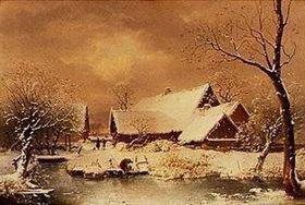 Wilhelm Heinrich Schneider: Verschneite Winterlandschaft