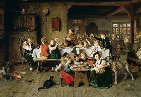Ludwig Knaus: Ein Kinderfest (Der Katzentisch)