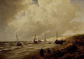 Andreas Achenbach: Strand bei Scheveningen