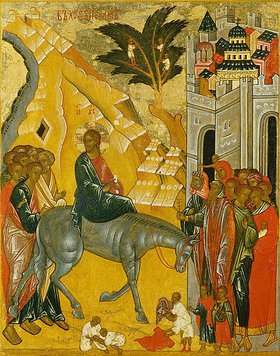 Ikone russisch: Einzug Jesu in Jerusalem