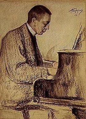 Leonid Ossipowitsch Pasternak: Bildnis des Komponisten S.Rachmaninow