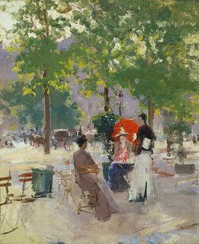 Alexejew. Konstantin Korovin: Strassencafé in Paris