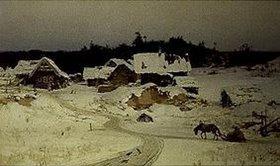 Vasilij Dimitrijew Polenow: Winter im Dorf (Imogenzy)