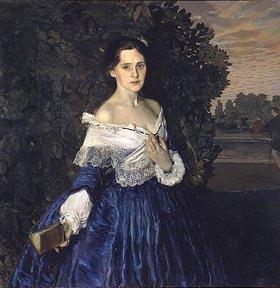 Konstantin Somow: Dame in Blau (Bildnis Jelisaweta Martynowa)