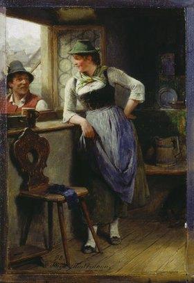 Hugo Kauffmann: Bursche und Mädel am Fenster
