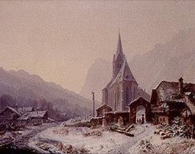 Heinrich Bürkel: Winter in der Ramsau