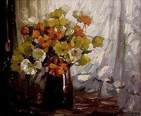 Alexander Koester: Mohn in brauner Vase