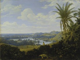 Frans Post: Brasilianische Landschaft mit Ameisenbär. Wohl