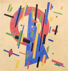 Nina Kogan: Suprematistische Komposition mit Keil und Kreis