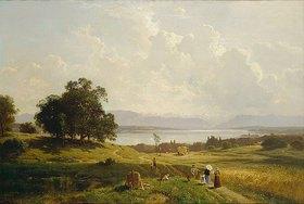 Adolf Heinrich Lier: Der Starnberger See von Pöcking aus