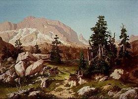 Willibald Wex: Hochgebirgslandschaft