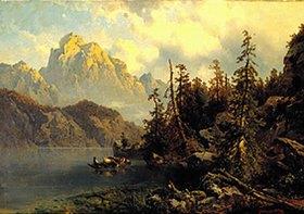 Justus von Olten: Der Vierwaldstätter See mit dem Pilatus