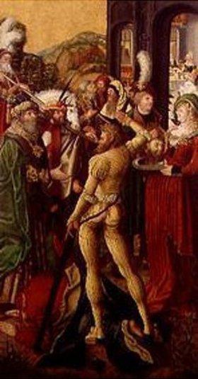 Mitteldeutsch: Die Enthauptung Johannes des Täufers
