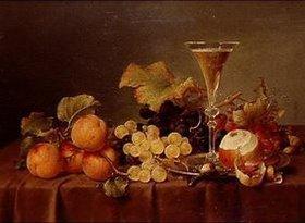 Johann Wilhelm Preyer: Früchtestilleben mit Sektkelch