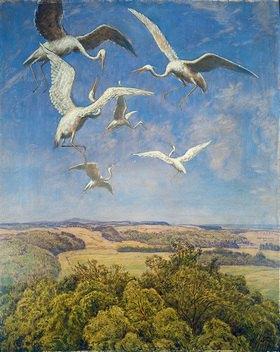 Hans Thoma: Wonne des Fliegens