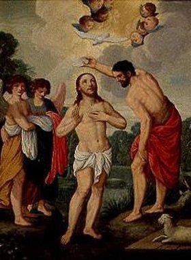 Johann König: Die Taufe Christi im Jordan