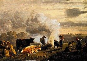 Johann Friedrich Voltz: Bei der Kartoffelernte