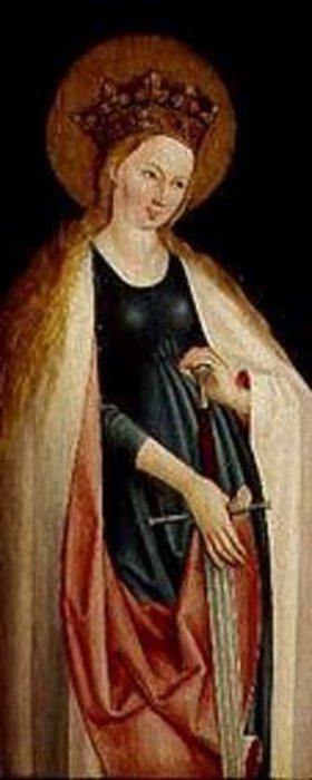 Ulm: Die hl.Katharina mit Krone und Schwert