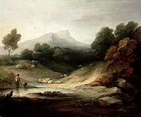 Thomas Gainsborough: Landschaft mit Hirt und Herde