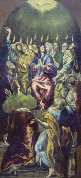 Greco El (Dom.Theotokopoulos): Die Ausgießung des heiligen Geistes (Pfingstfest)