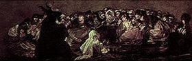 Francisco José de Goya: Der große Bock (Aus den schwarzen Bildern der Quinta del Sordo)
