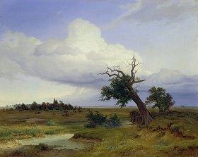 Eduard Schleich d.Ä.: Landschaft mit absterbender Eiche