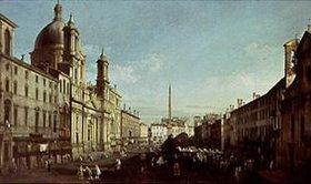 Bernardo (Canaletto) Bellotto: Die Piazza Navona in Rom