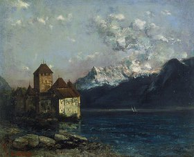 Gustave Courbet: Das Chateau de Chillon am Genfer See
