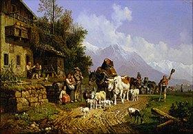 Heinrich Bürkel: Heimkehr von der Alm