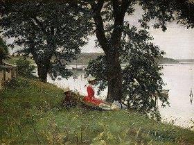 Peter Ilsted: Am Ufer eines dänischen Sees