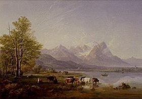 Heinrich Bürkel: Garmischer Tal