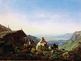 Heinrich Bürkel: Auftrieb zur Alm
