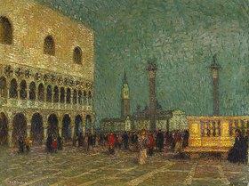 Henri Le Sidaner: Der Markusplatz in Venedig