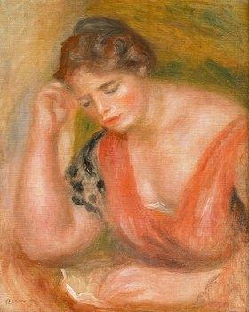 Auguste Renoir: Lesende junge Frau in rotem Kleid